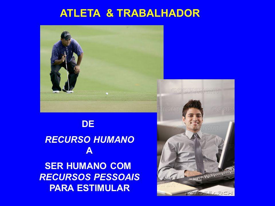 ATLETA & TRABALHADOR DE RECURSO HUMANO A SER HUMANO COM