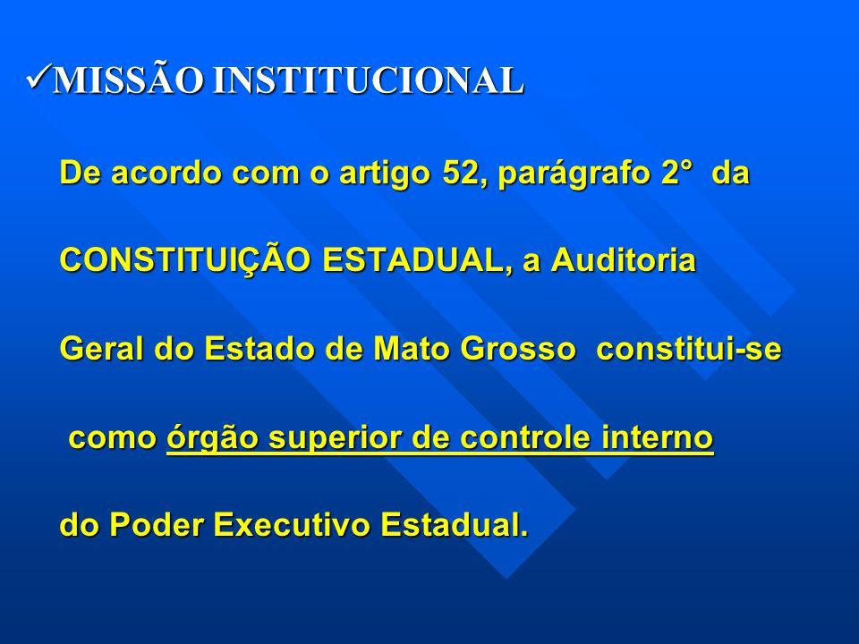 MISSÃO INSTITUCIONAL De acordo com o artigo 52, parágrafo 2° da