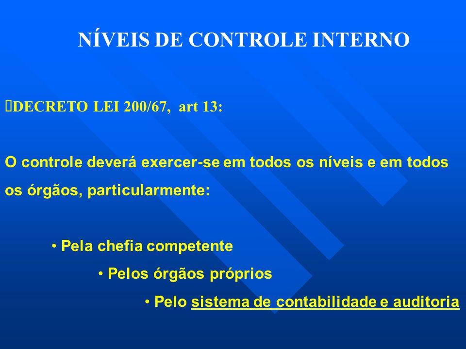 NÍVEIS DE CONTROLE INTERNO