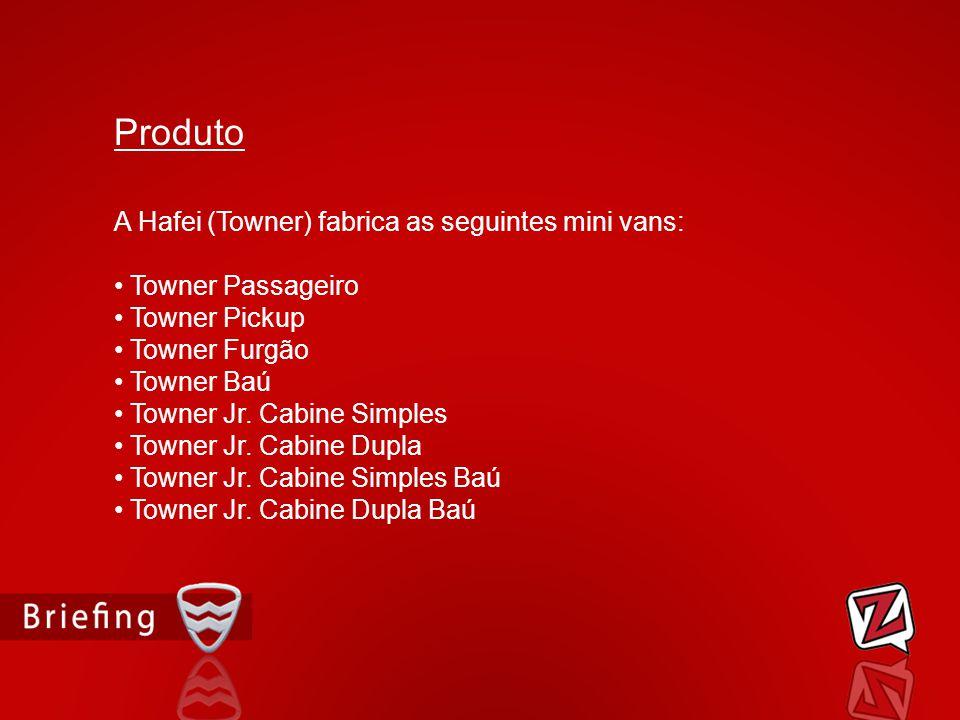 Produto A Hafei (Towner) fabrica as seguintes mini vans: