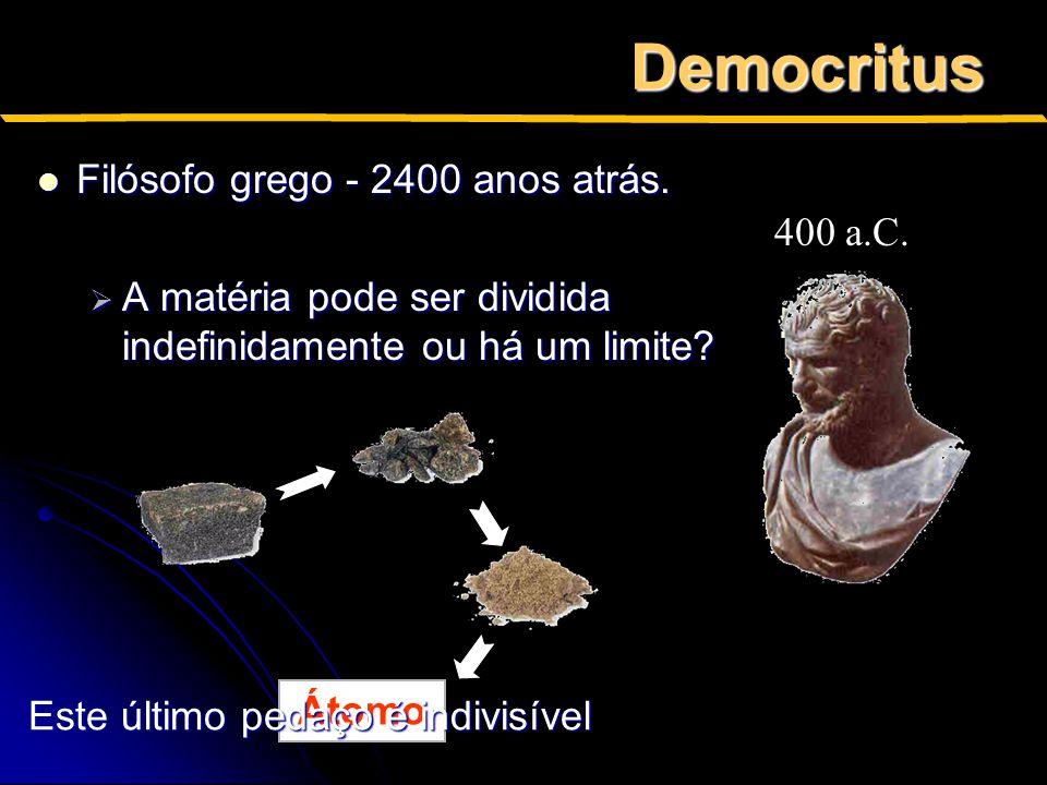 Democritus Filósofo grego - 2400 anos atrás.