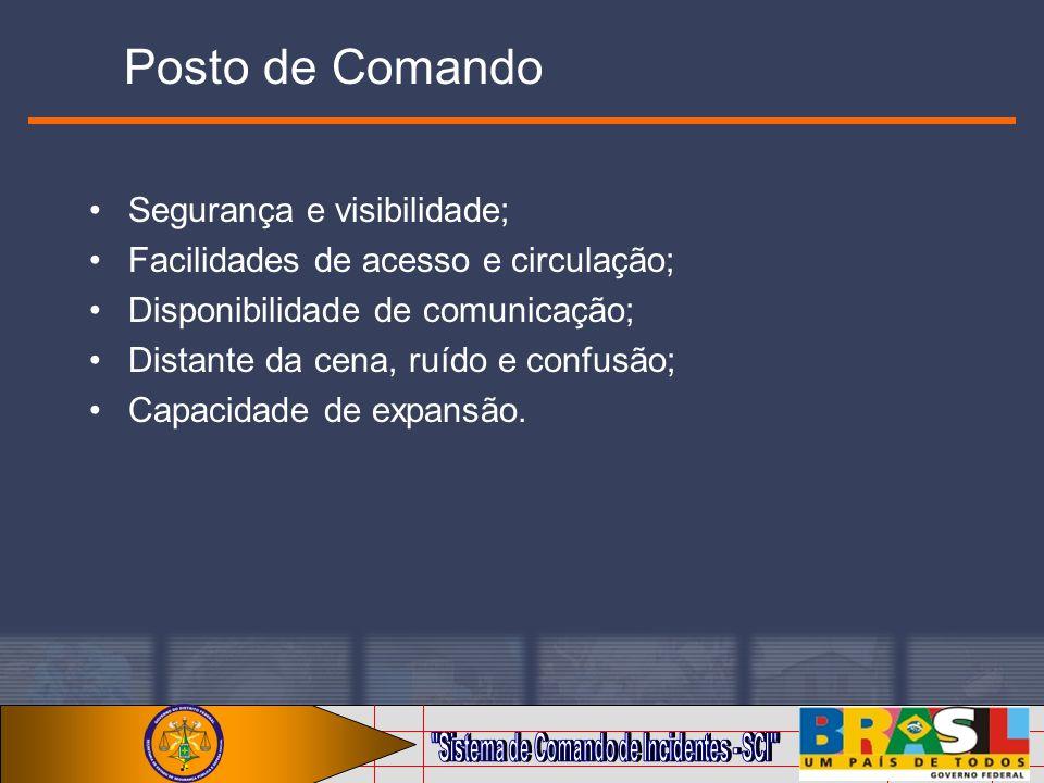 Posto de Comando Segurança e visibilidade;