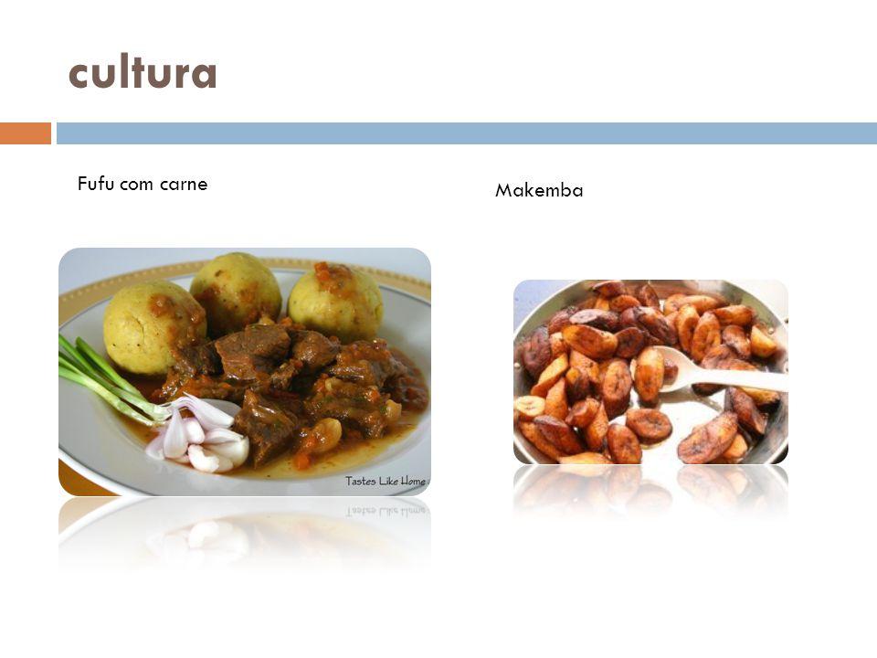 cultura Fufu com carne Makemba