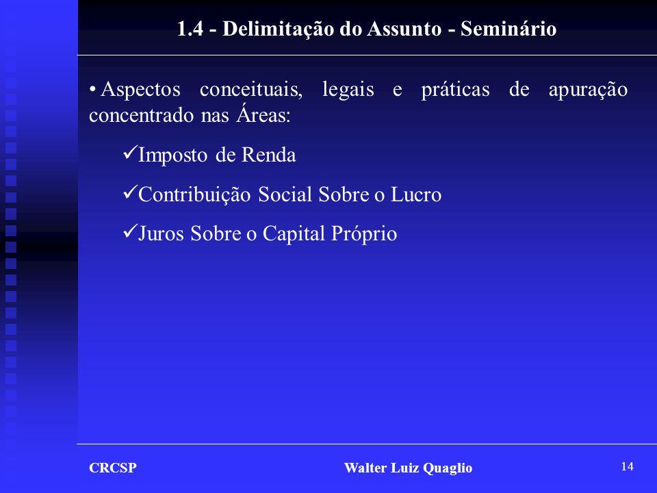 1.4 - Delimitação do Assunto - Seminário