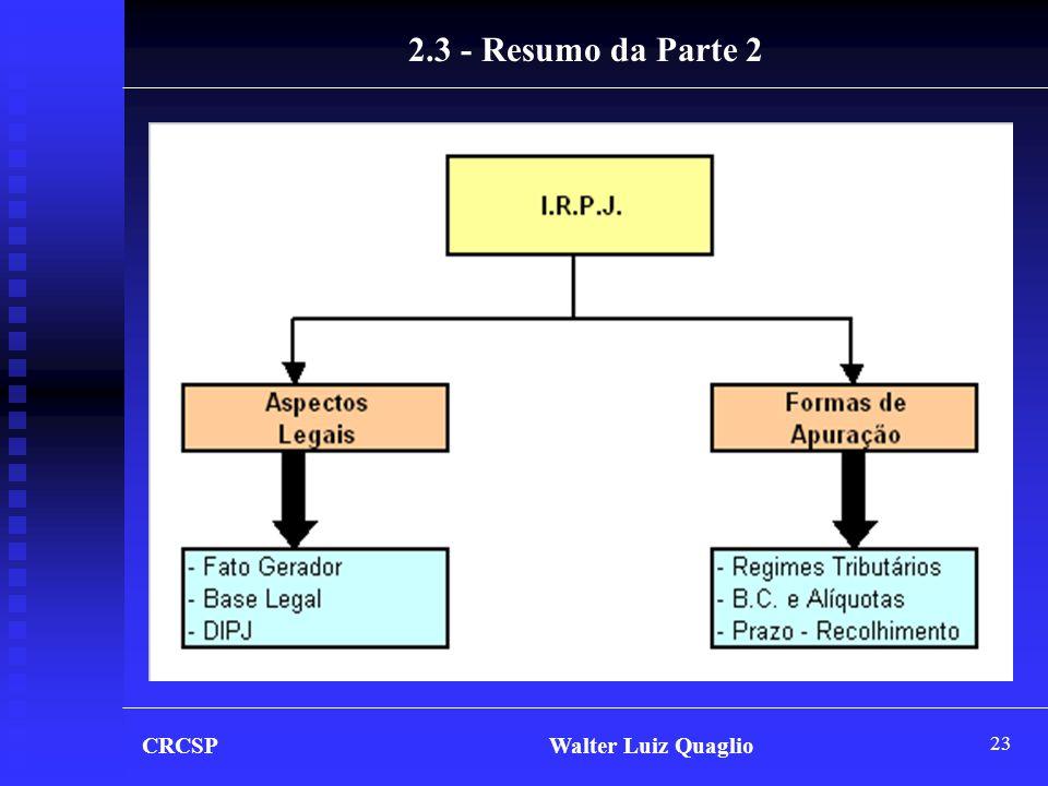2.3 - Resumo da Parte 2 CRCSP Walter Luiz Quaglio.