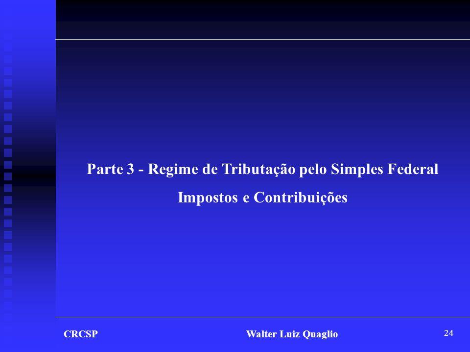 Parte 3 - Regime de Tributação pelo Simples Federal