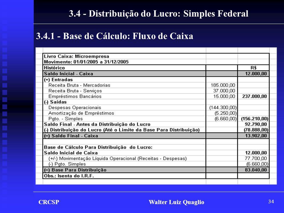 3.4 - Distribuição do Lucro: Simples Federal