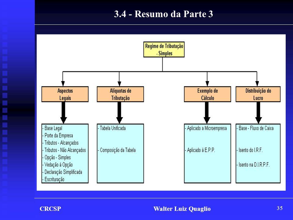 3.4 - Resumo da Parte 3 CRCSP Walter Luiz Quaglio.