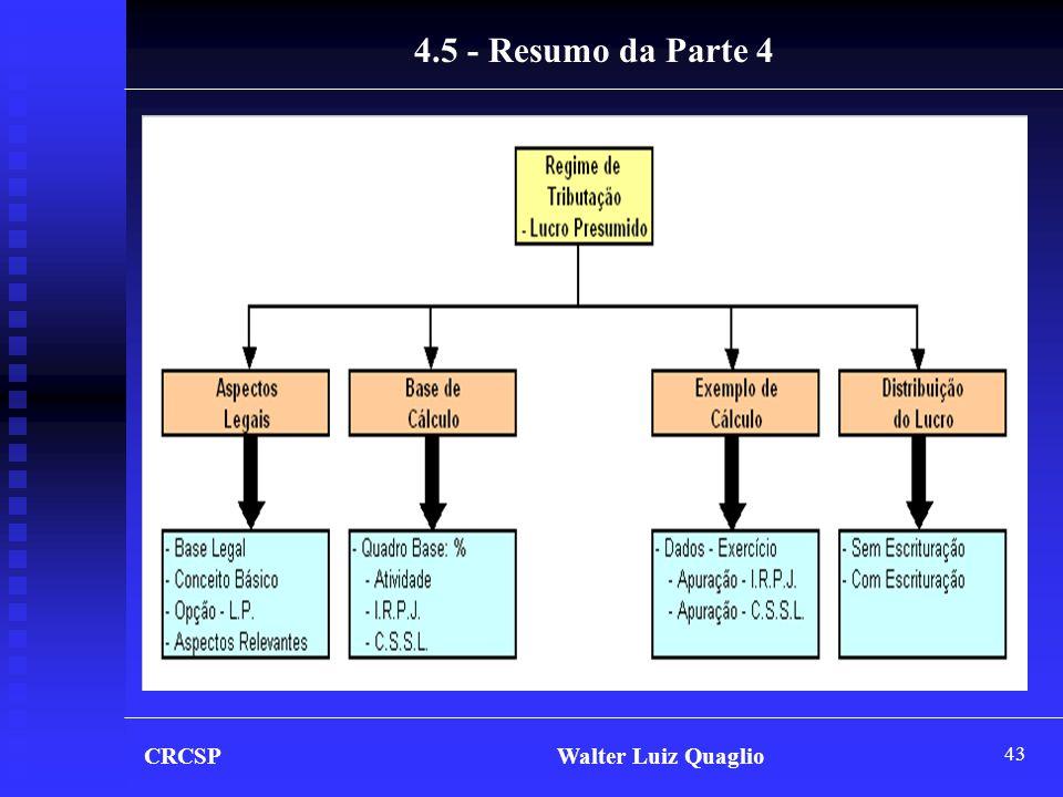 4.5 - Resumo da Parte 4 CRCSP Walter Luiz Quaglio.