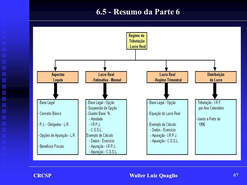 6.5 - Resumo da Parte 6 CRCSP Walter Luiz Quaglio.