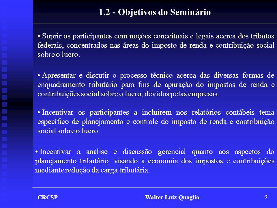 1.2 - Objetivos do Seminário