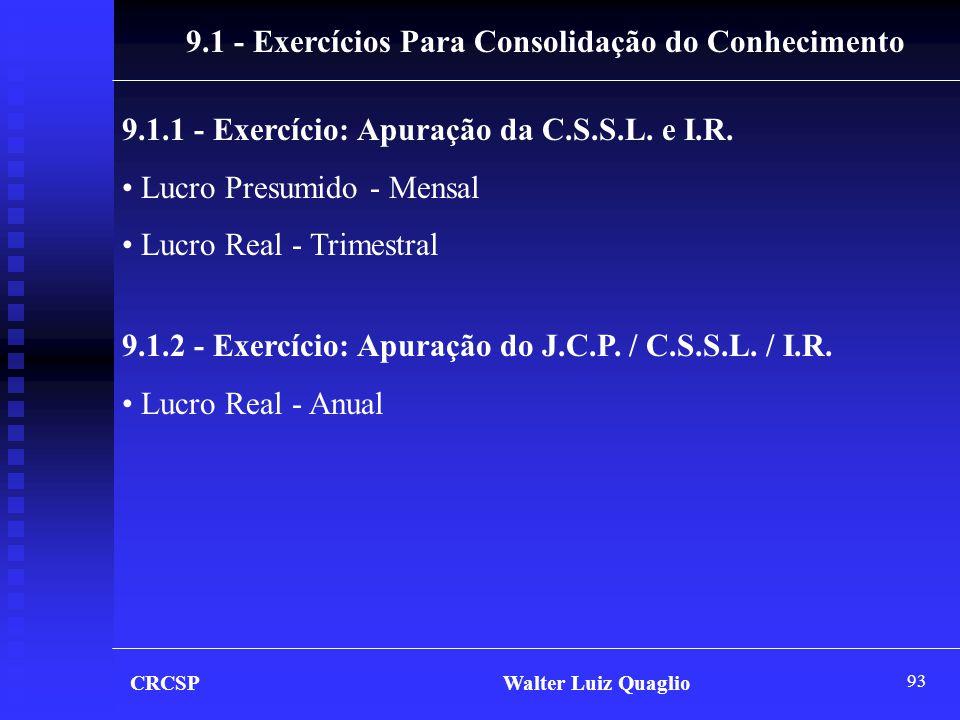 9.1 - Exercícios Para Consolidação do Conhecimento