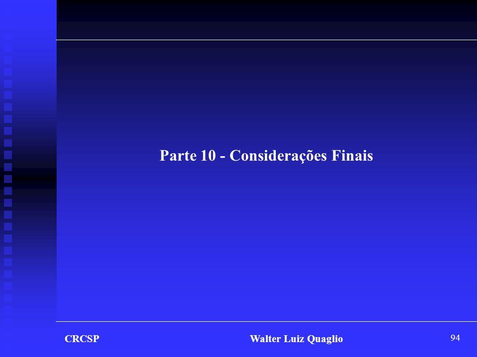 Parte 10 - Considerações Finais