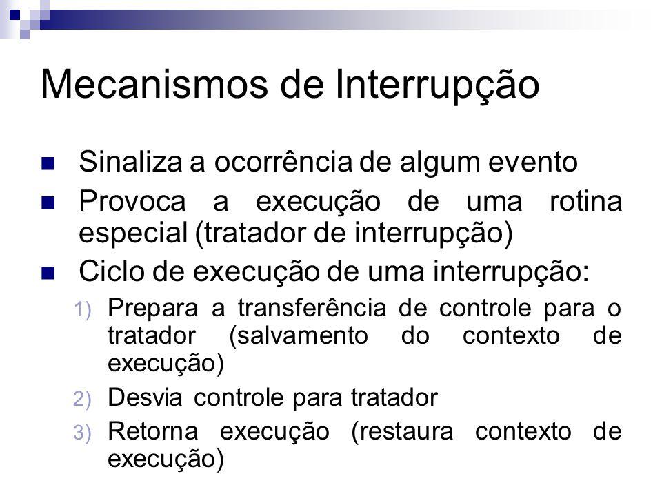 Mecanismos de Interrupção