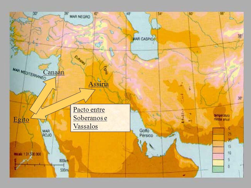 Canaán Assíria Pacto entre Soberanos e Vassalos Pacto entre iguais Egito