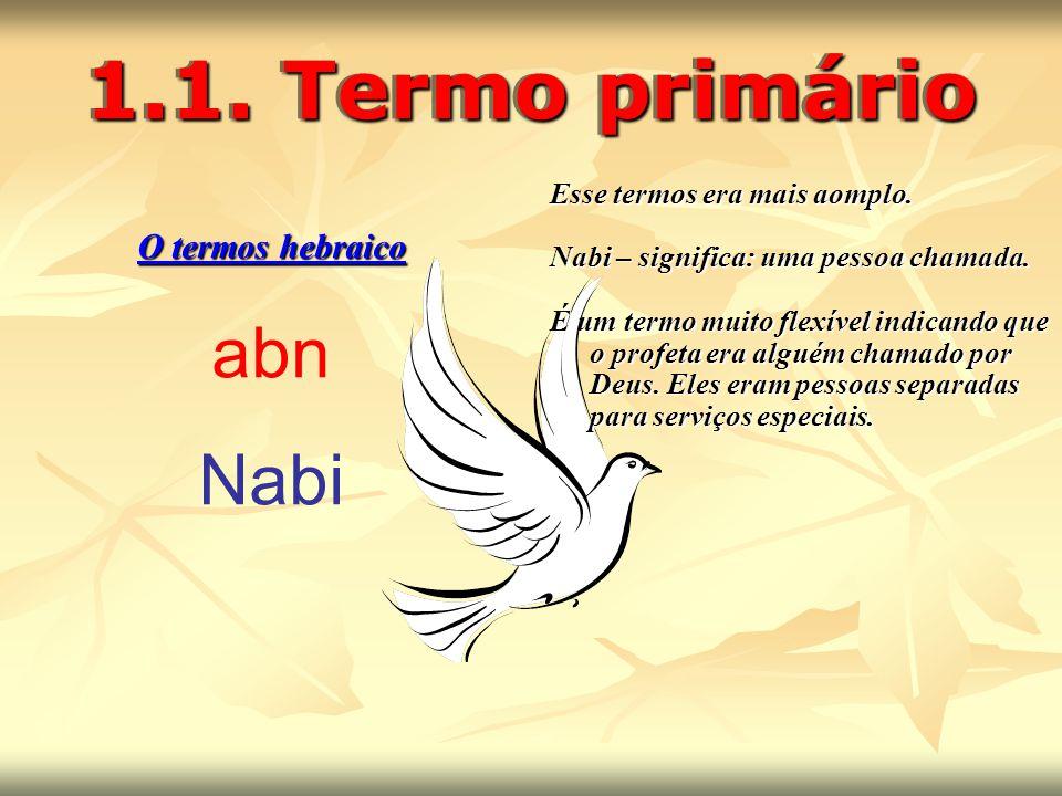 1.1. Termo primário abn Nabi O termos hebraico