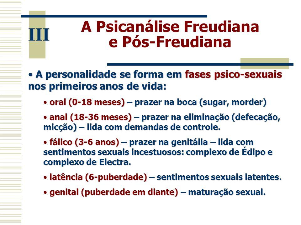 A Psicanálise Freudiana e Pós-Freudiana