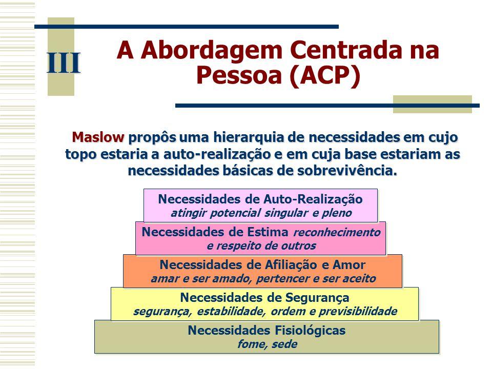 III A Abordagem Centrada na Pessoa (ACP)