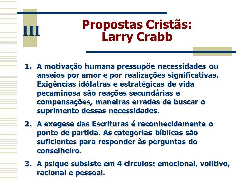 III Propostas Cristãs: Larry Crabb