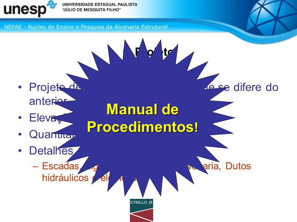 Manual de Procedimentos!
