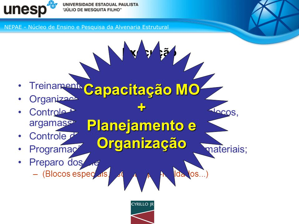 Capacitação MO + Planejamento e Organização