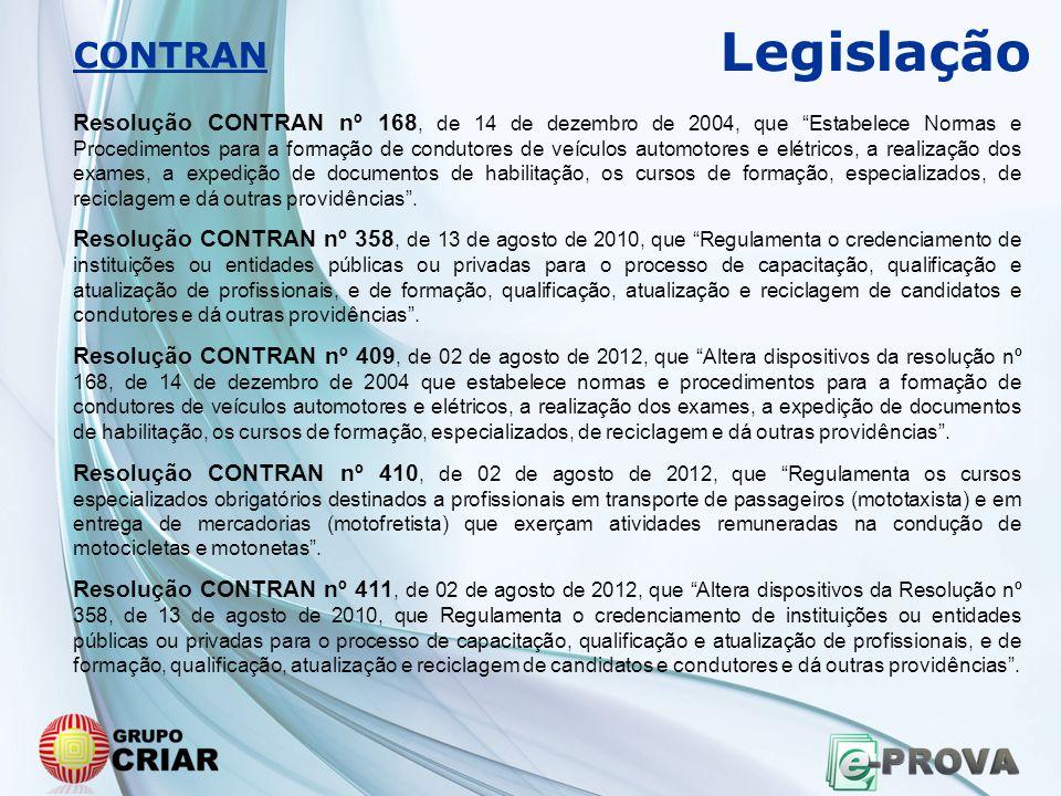 Legislação CONTRAN.