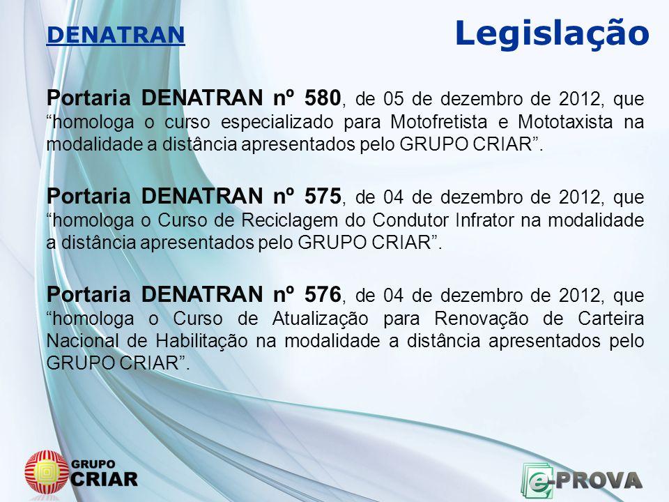 Legislação DENATRAN.