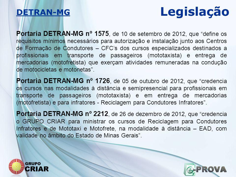 Legislação DETRAN-MG.