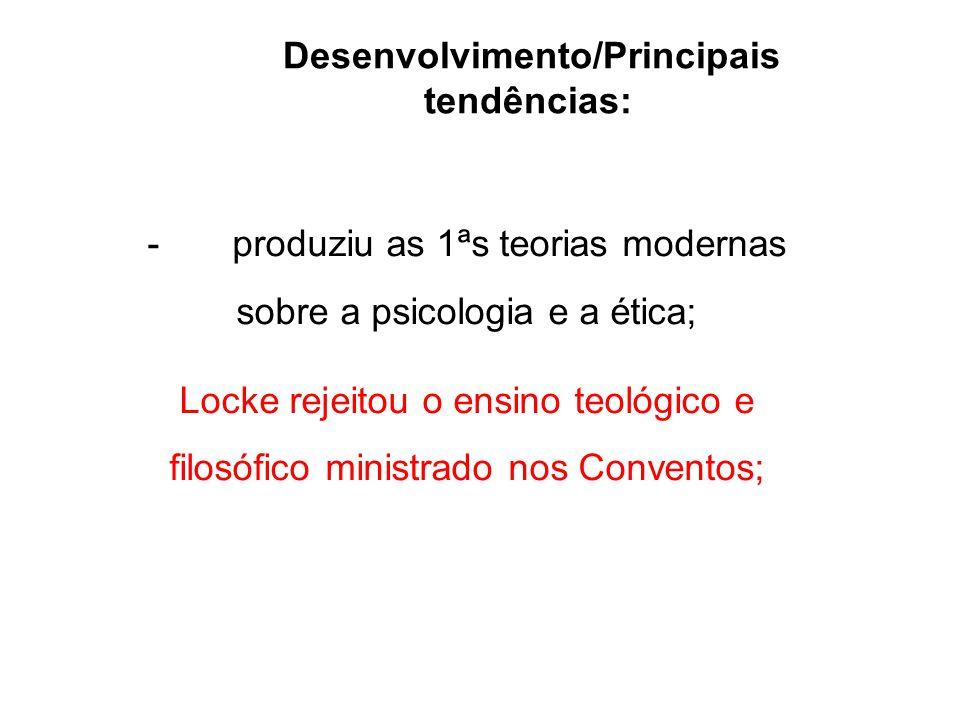 Desenvolvimento/Principais tendências: