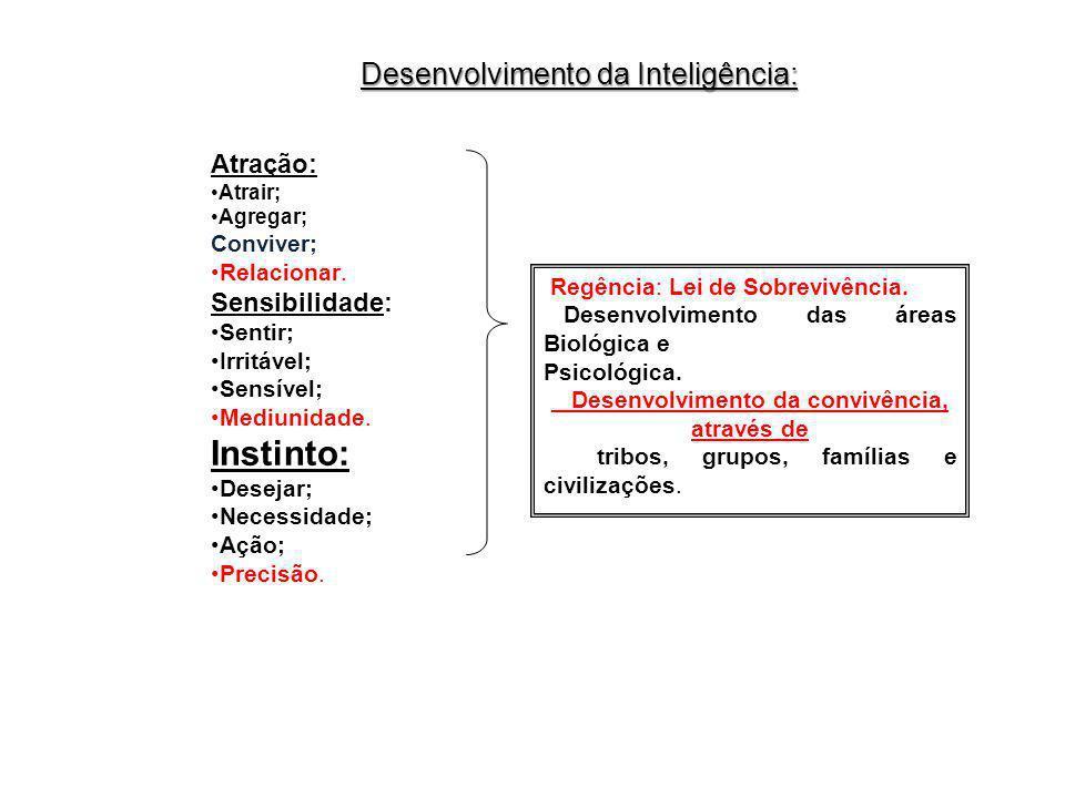Instinto: Desenvolvimento da Inteligência: Atração: Sensibilidade: