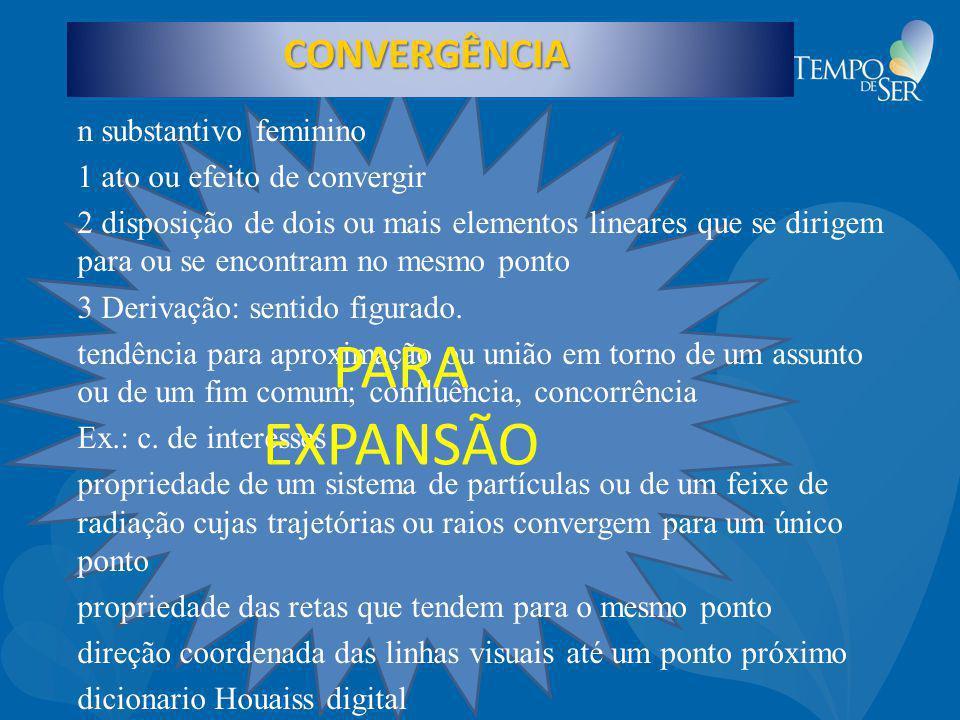 PARA EXPANSÃO CONVERGÊNCIA