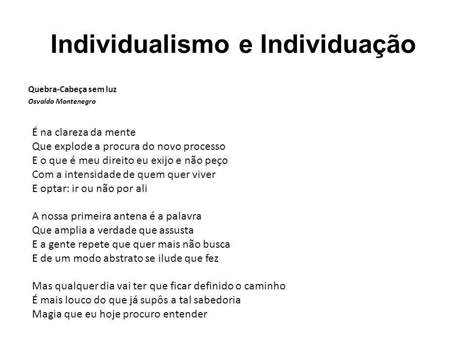 Individualismo e Individuação