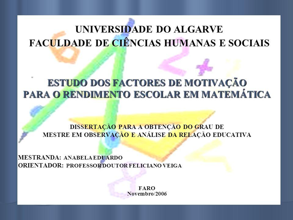 UNIVERSIDADE DO ALGARVE FACULDADE DE CIÊNCIAS HUMANAS E SOCIAIS