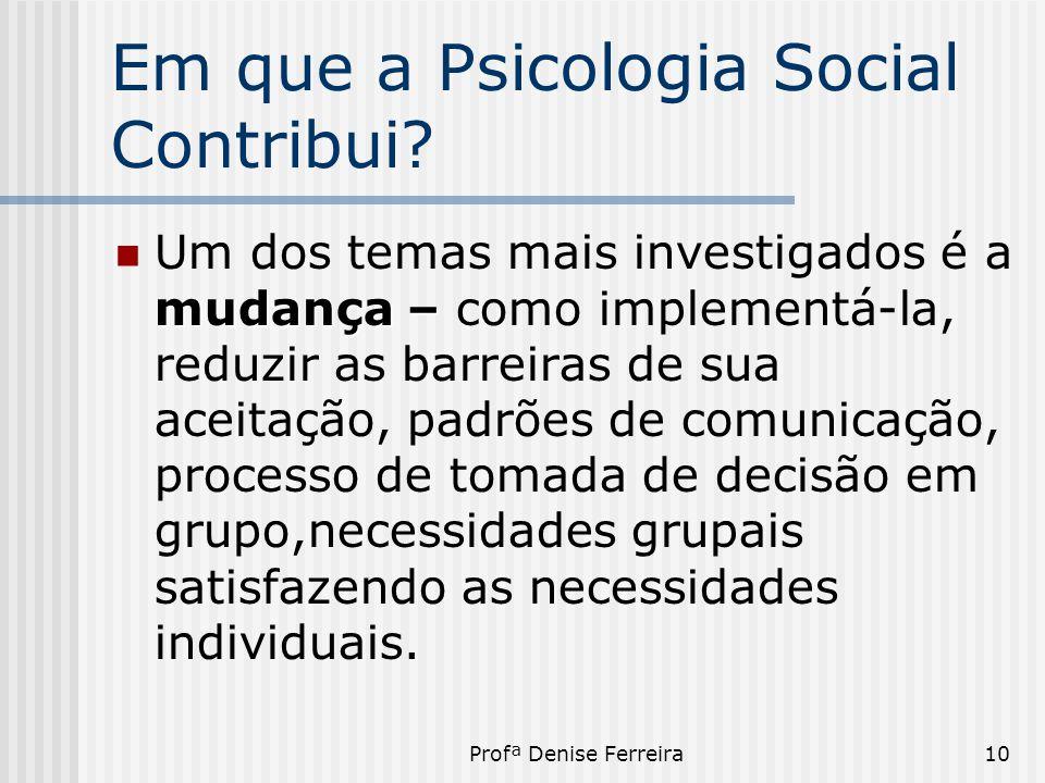 Em que a Psicologia Social Contribui