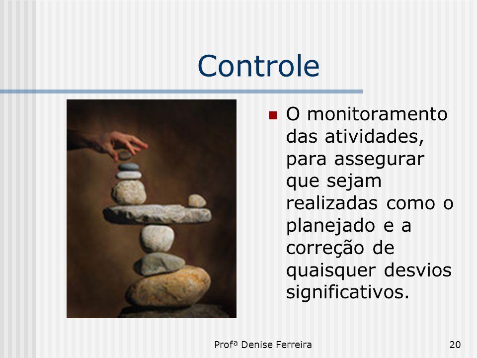 Controle O monitoramento das atividades, para assegurar que sejam realizadas como o planejado e a correção de quaisquer desvios significativos.