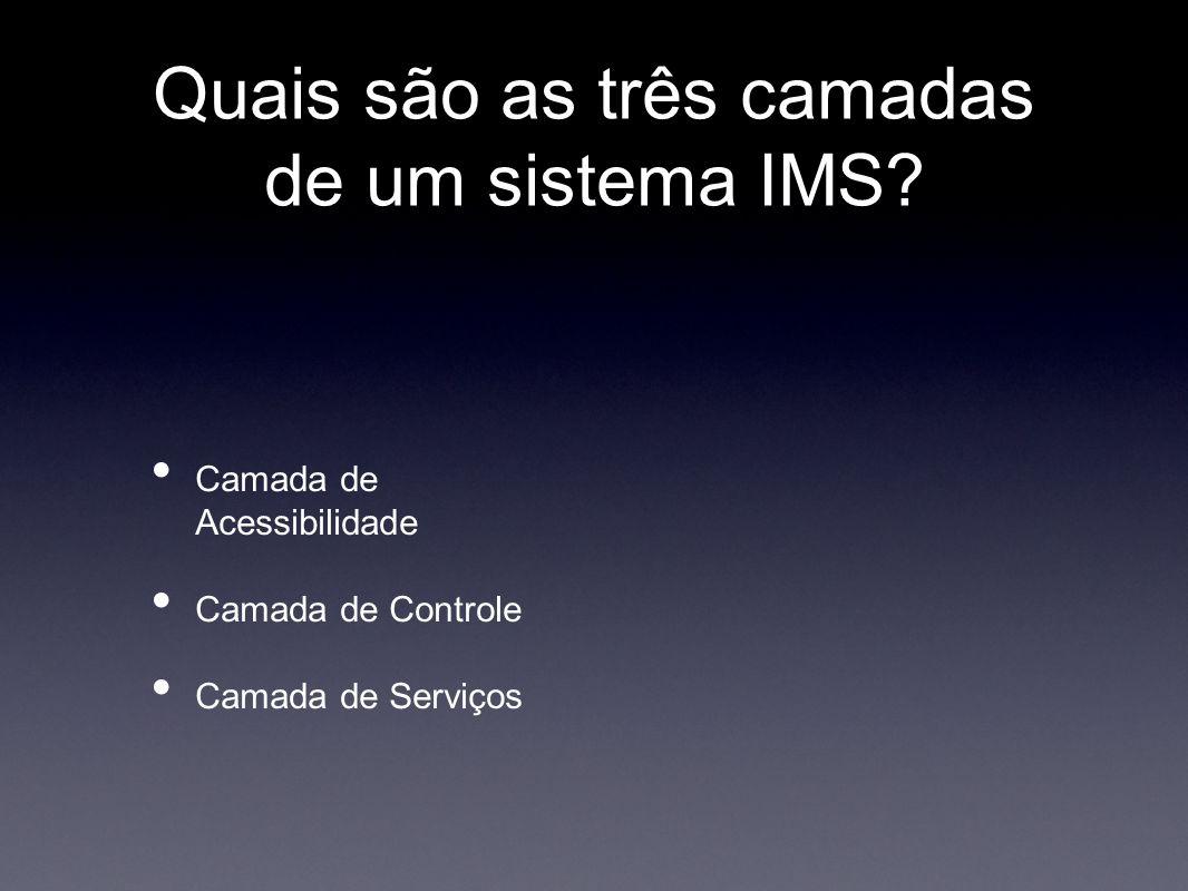 Quais são as três camadas de um sistema IMS