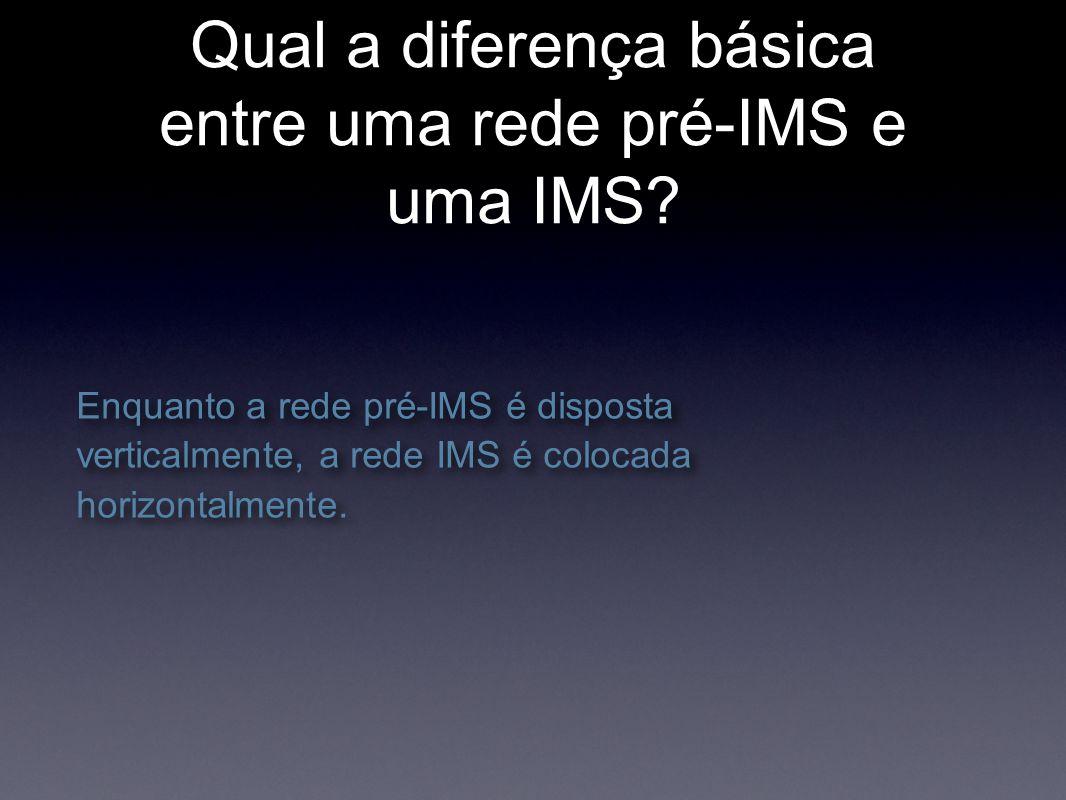 Qual a diferença básica entre uma rede pré-IMS e uma IMS