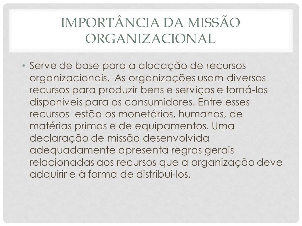 Importância da Missão Organizacional
