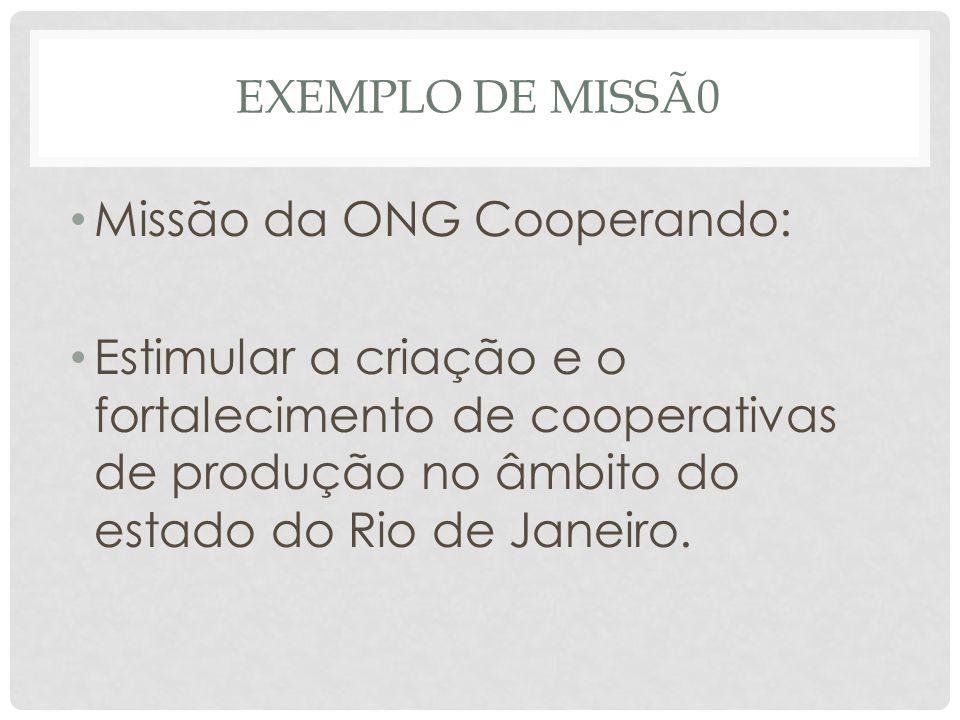 Missão da ONG Cooperando: