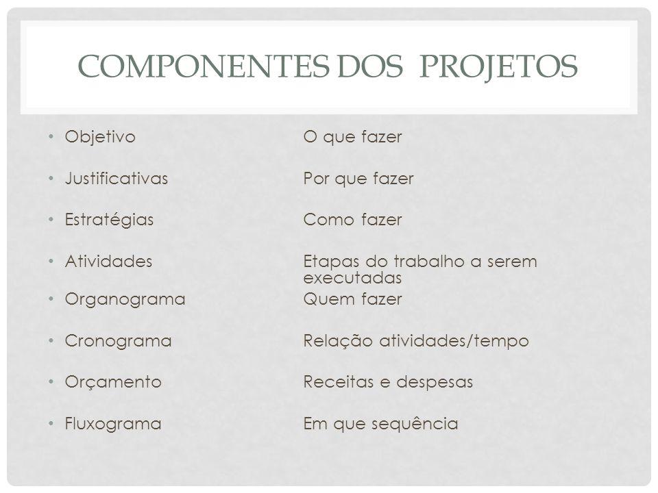 Componentes dos projetos