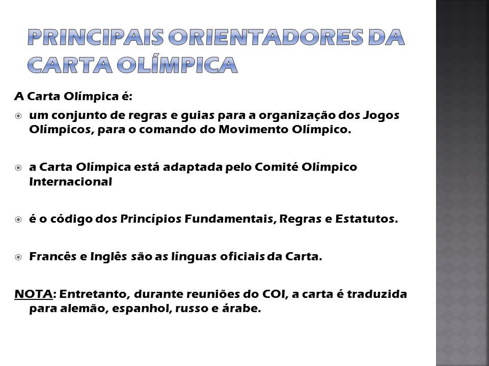 Principais orientadores da Carta Olímpica