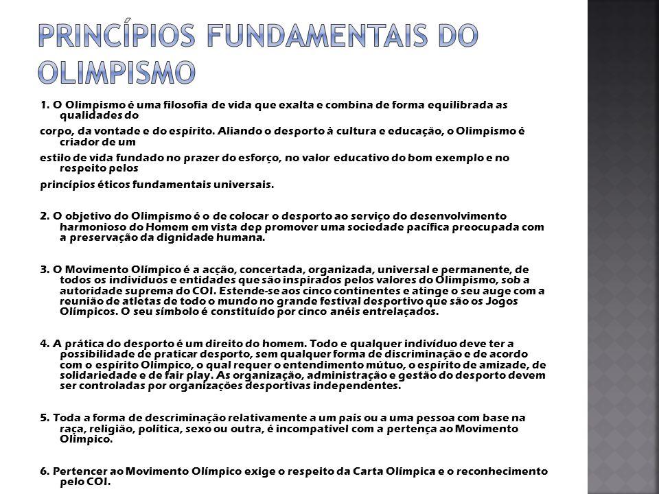 Princípios Fundamentais do Olimpismo