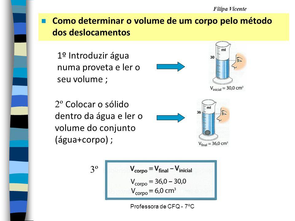 Como determinar o volume de um corpo pelo método dos deslocamentos