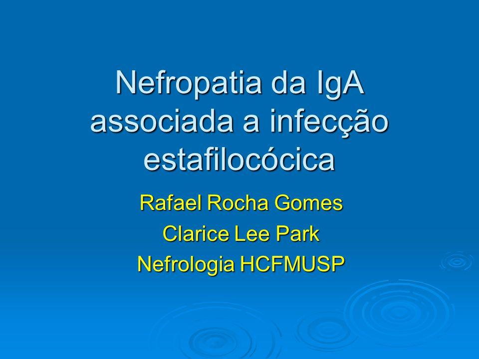 Nefropatia da IgA associada a infecção estafilocócica