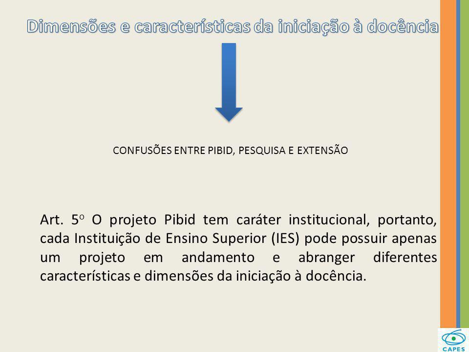 Dimensões e características da iniciação à docência