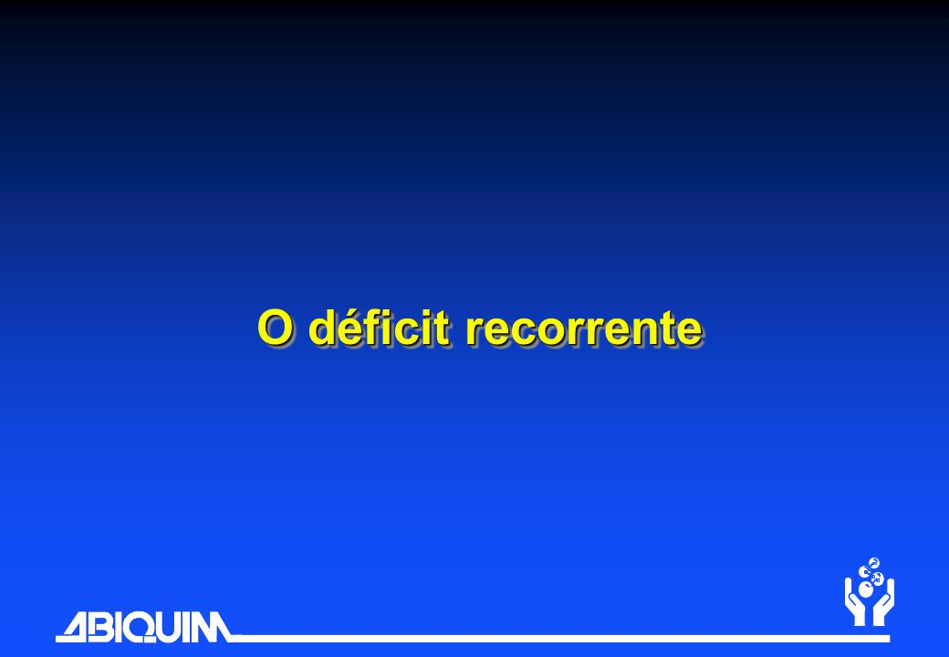 O déficit recorrente