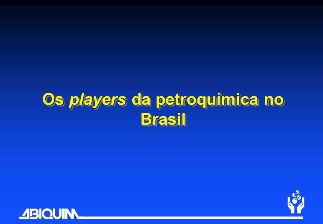 Os players da petroquímica no Brasil