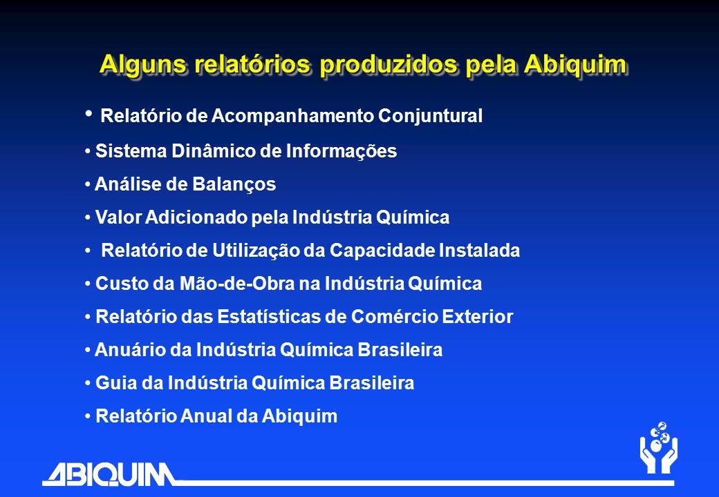 Alguns relatórios produzidos pela Abiquim