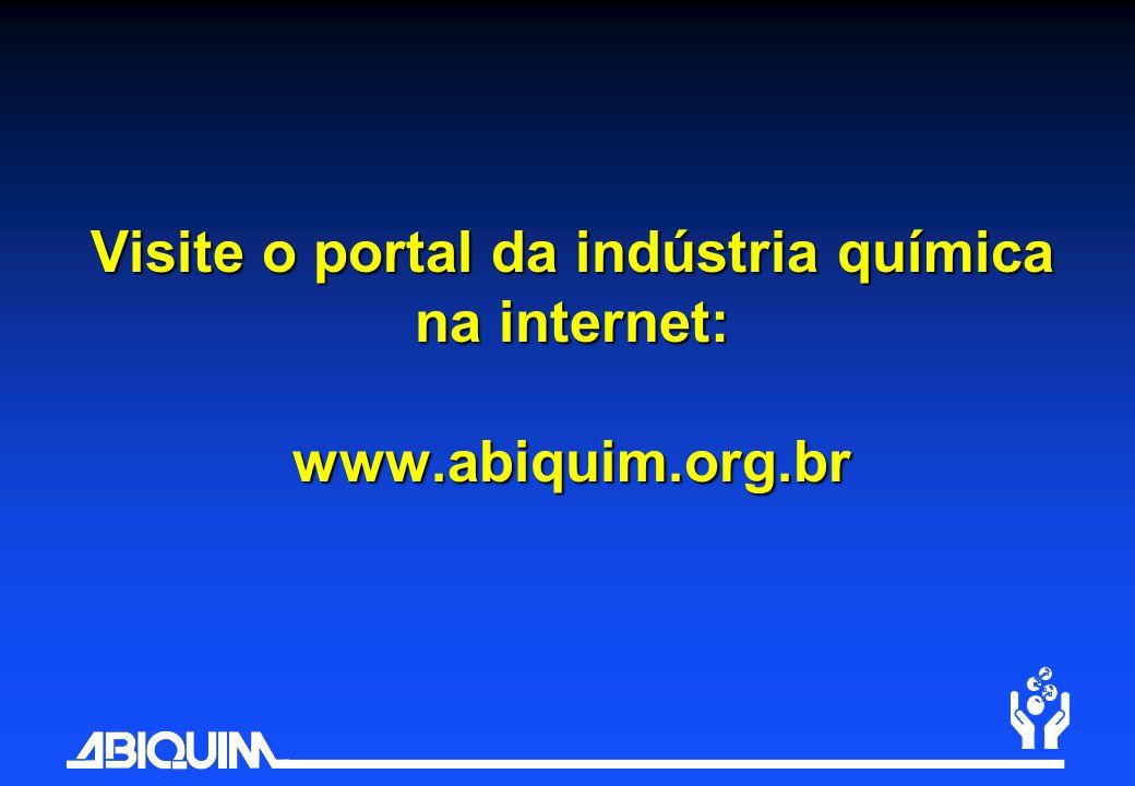 Visite o portal da indústria química na internet: www.abiquim.org.br