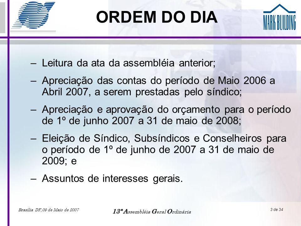 13ª Assembléia Geral Ordinária